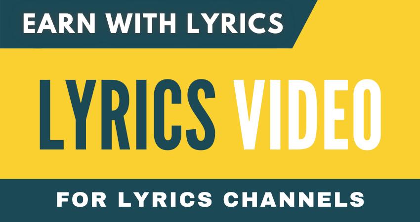 I will make lyrics video for lyrics channel