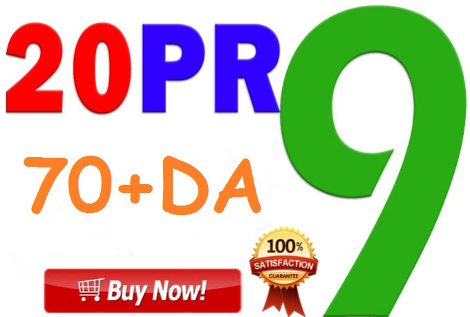 20 PR9 Backlinks 70+ DA High Quality SEO Permanent Links Increase Your Ranking