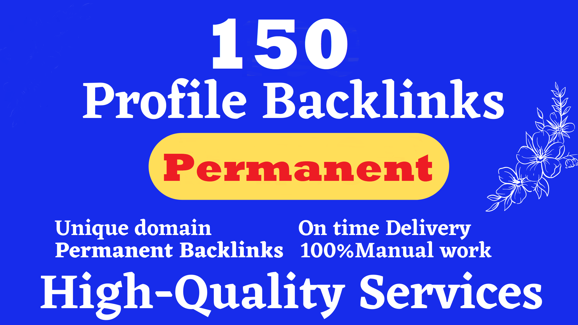 Permanent 150 Dofollow with high authority Manual PR8-2 SEO backlinks service