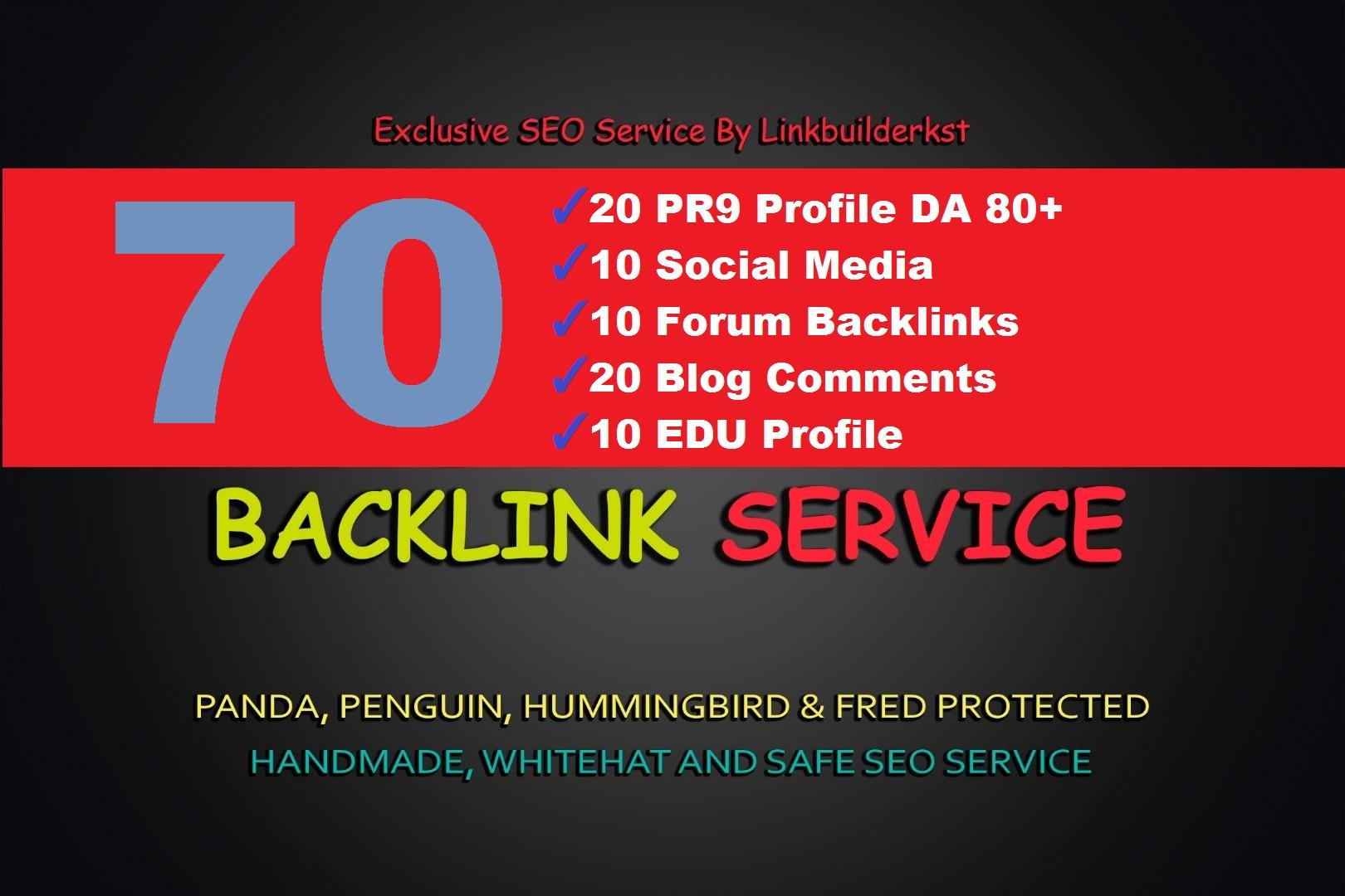 5 Step 75 SEO Backlinks PR9, EDU, Forum, Social Media Links for Boost GOOGLE Ranking