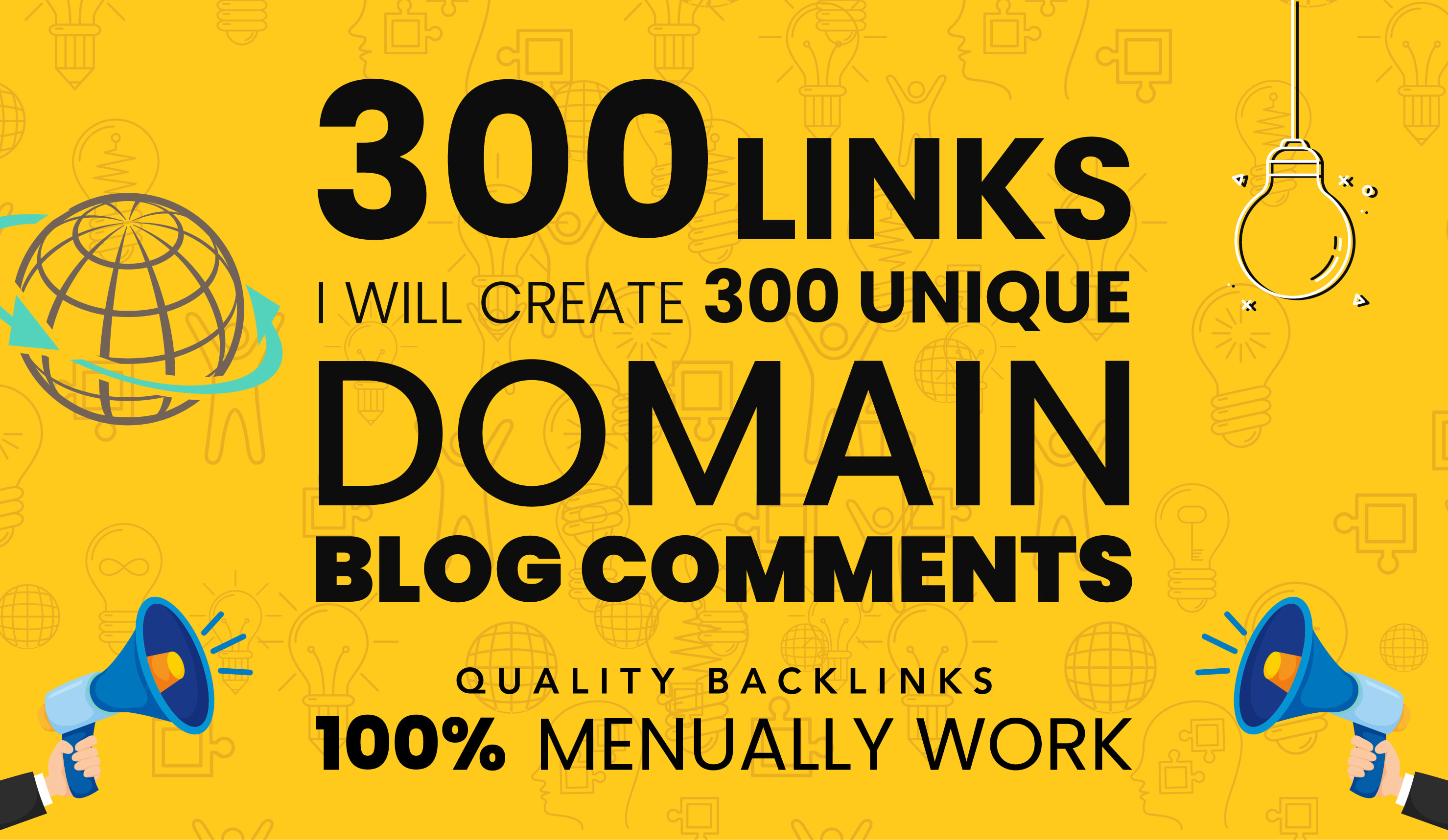 300 Manual Dofollow Unique Blog comment Backlinks on High DA websites