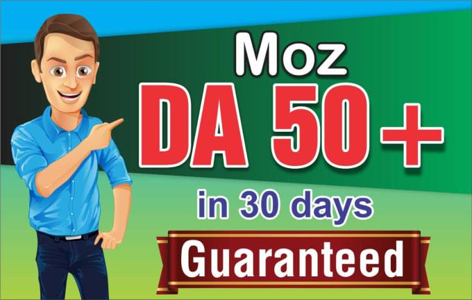 I will increase moz domain authority da 55 plus