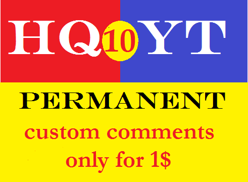 10+ permanent custom comments............