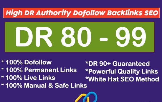 High Authority SEO Permanent Dofollow Backlinks from High DR 80 to 99