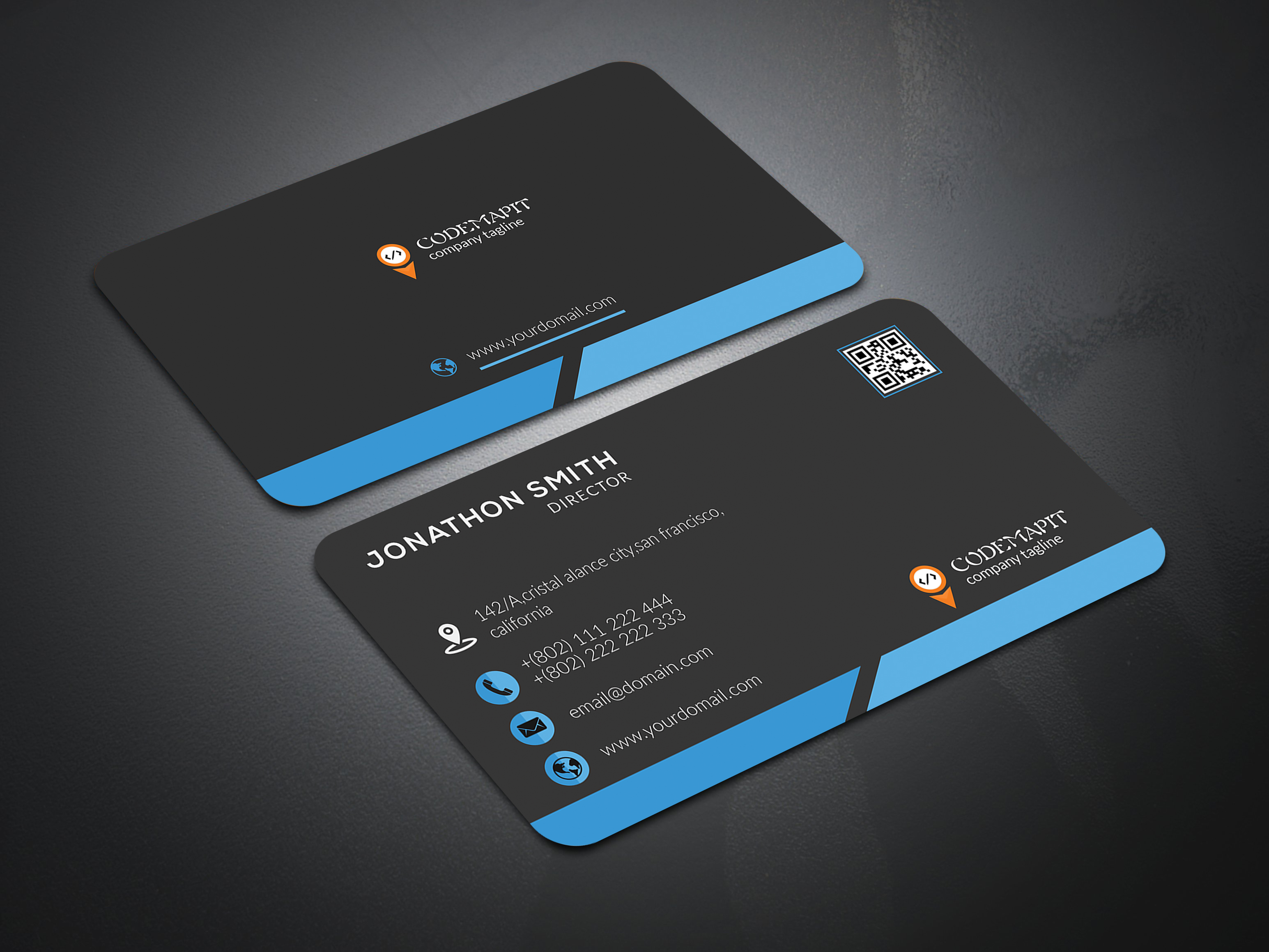 i will design professional luxury business card with three