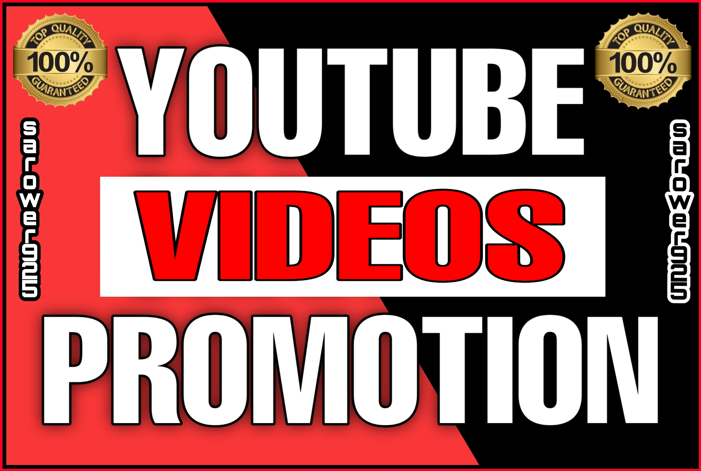 Youtube videos and watch promotion by real audience