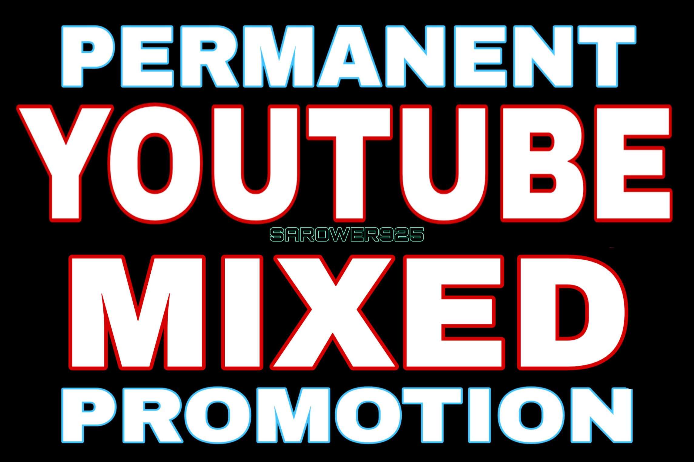 Permanent youtube mixed promotion via real users