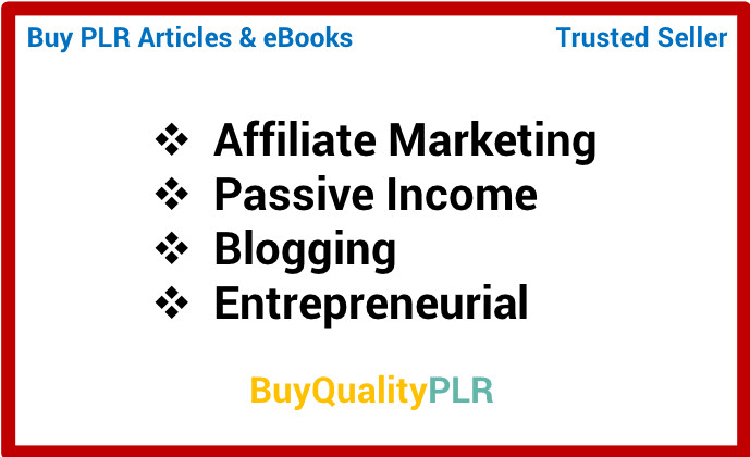 Provide you more than 6000 plr affiliate marketing articles
