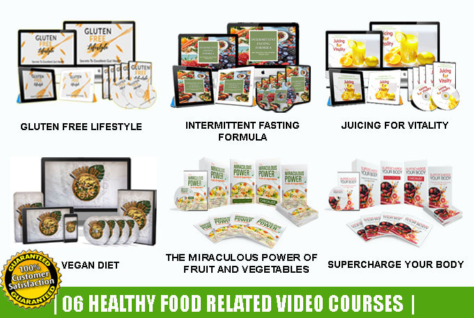 I will give 20 health and fitness related video courses,  ebooks with resell rights