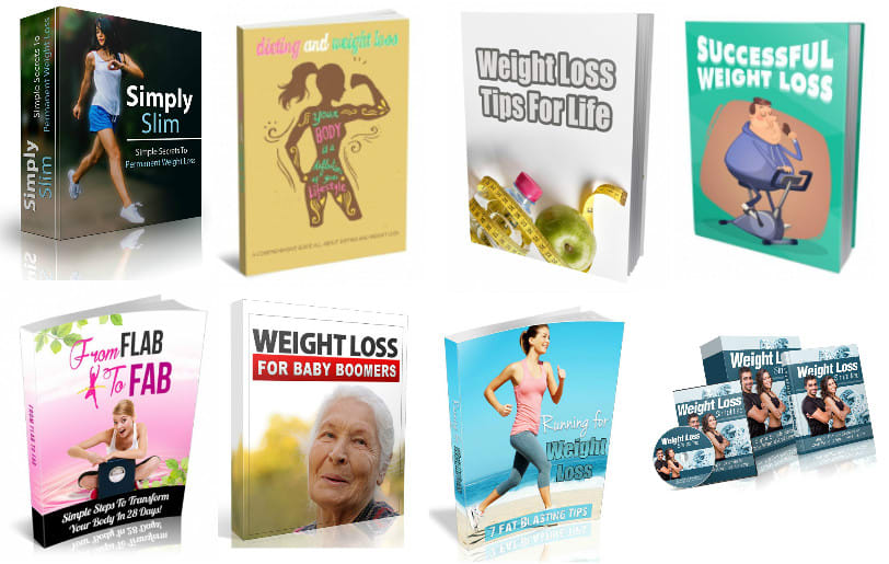 Provide 64 weight loss ebooks,  1 700 weight loss articles,  9 bonuses