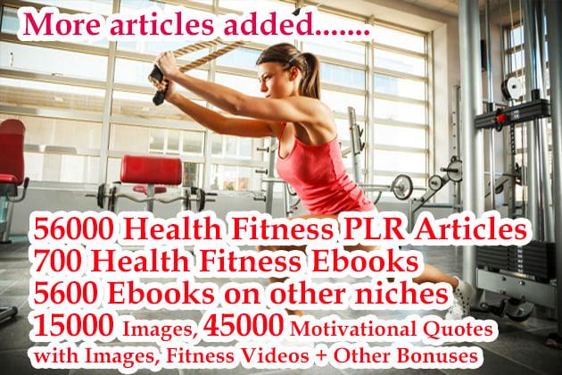 Provide 56000 health fitness plr articles,  ebooks plus huge bonuses