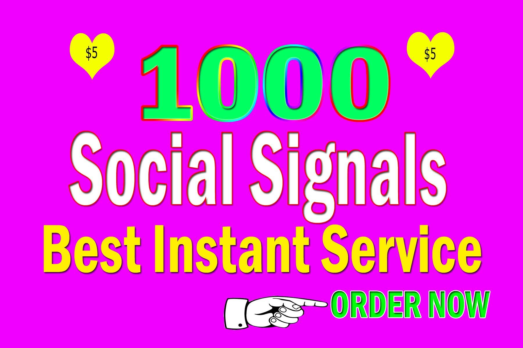 Drip Feed 1000 Website Mixed Social Signals