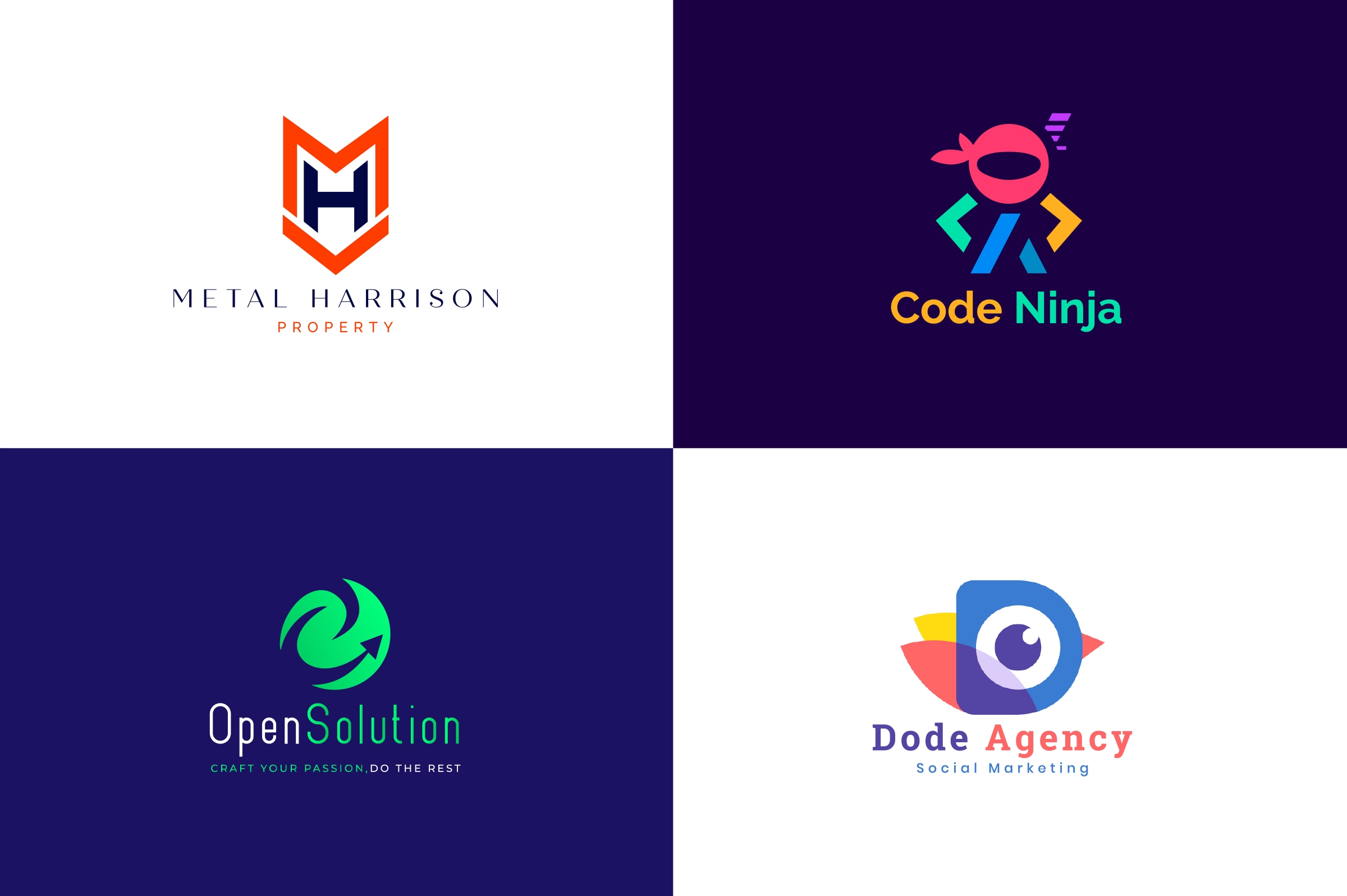 I will do creative simple minimalist logo design for your business