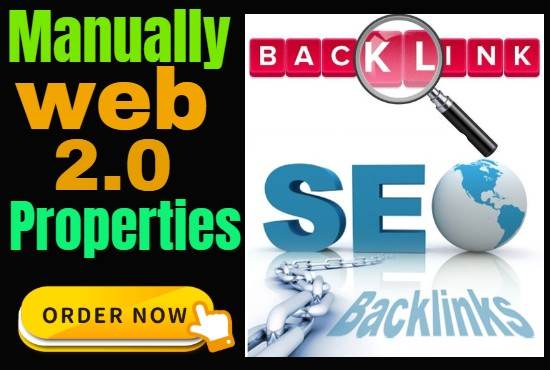 Get Manually High Authority Do Follow 10 Unique Web 2.0 Properties