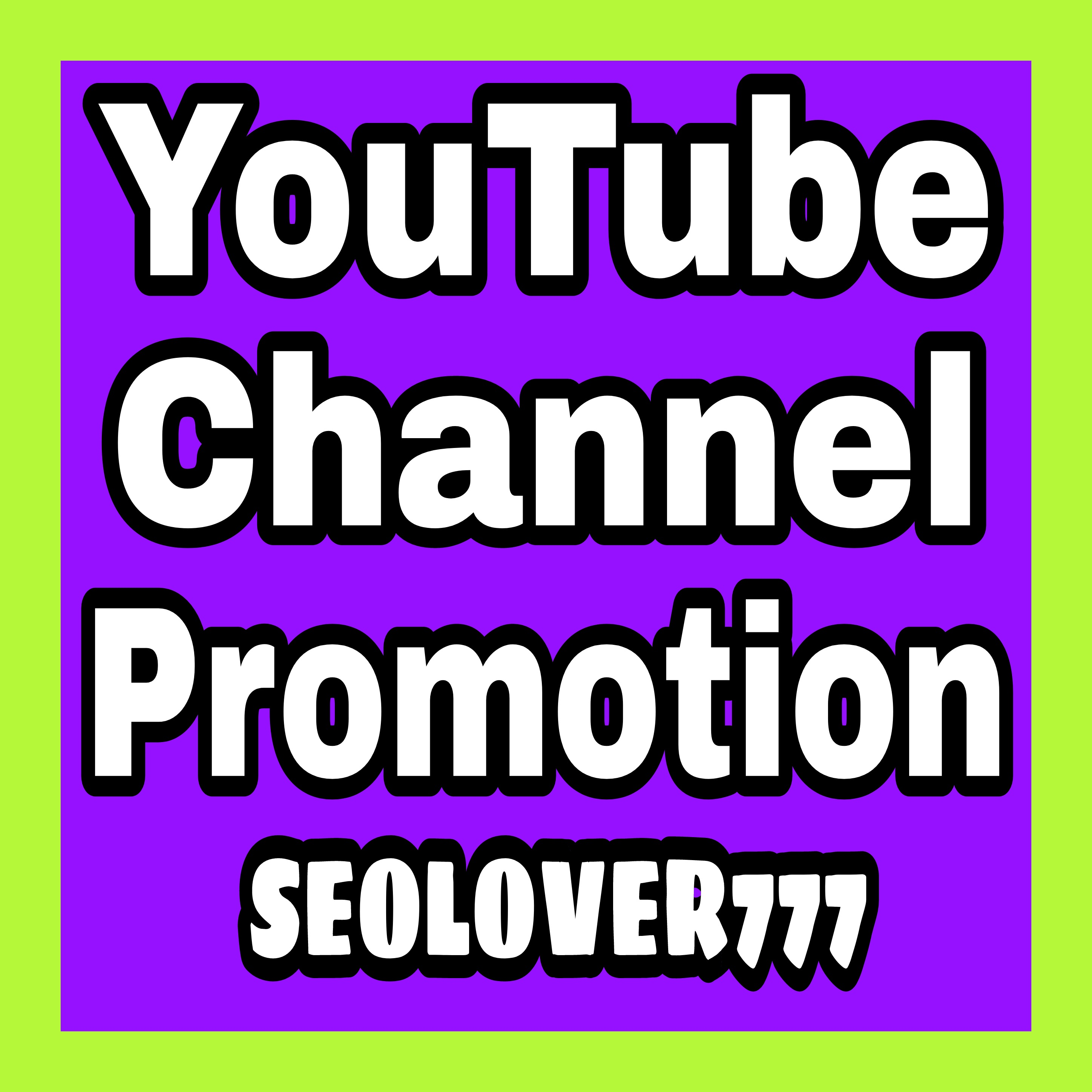 YouTube organic promotion & marketing via active audience