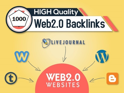 Get 1,000 web 2.0 HQ backlinks