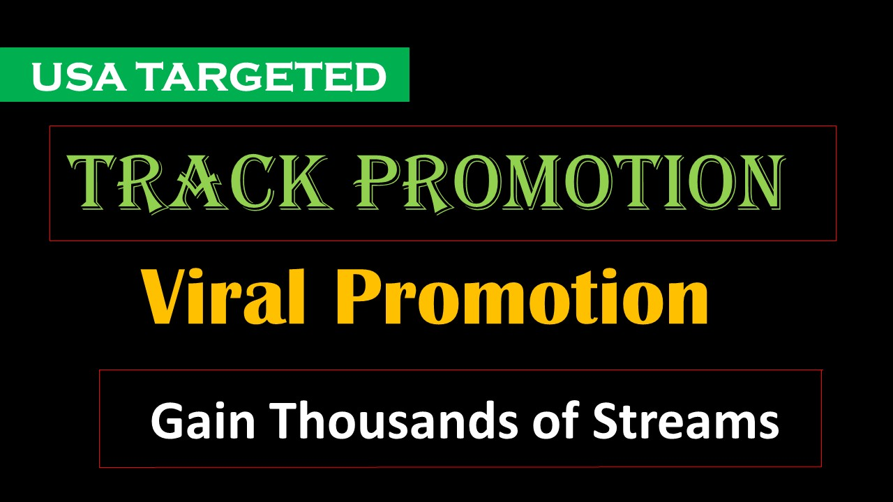 Streams Promotion Package for your Track