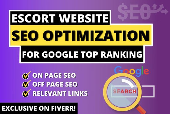I will do escort website SEO rank first in google