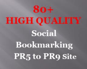 Get you High Quality Backlink on 80+ Social Bookmarking site PR5 to PR9