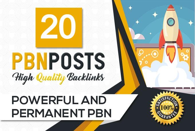 Build 20 High DA Homepage Dofollow PBN Backlinks