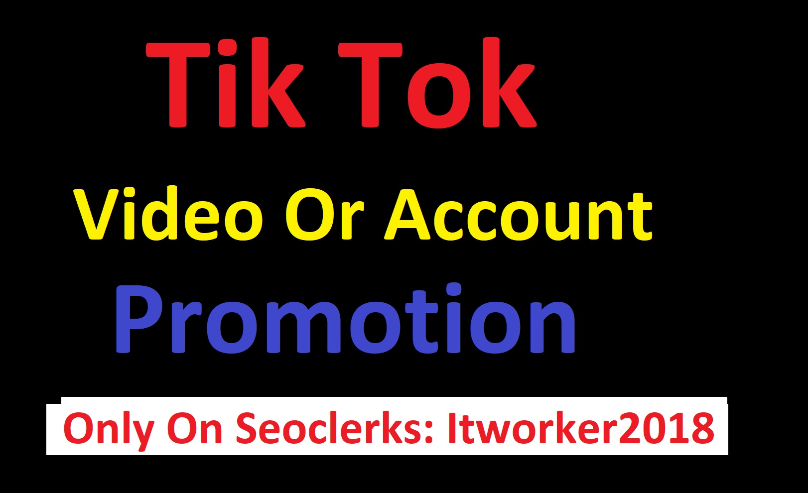 I will do Organic Tik tok Video promotion fast