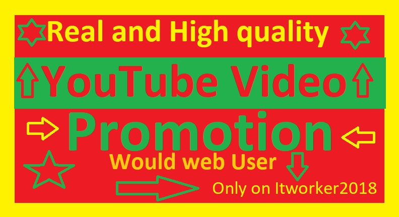 Organic YouTube Video Promotion And Video Social Media Marketing