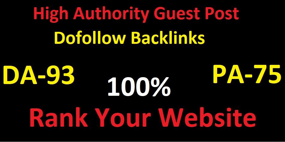 I will do guest post high DA-93 website