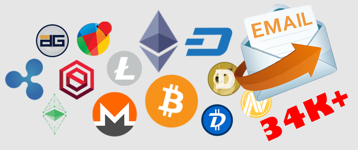 34K+ Crypto Currency Email list