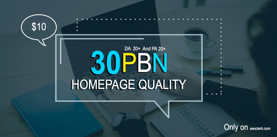Create Manually 30 High Authority Homepage Pbn Seo Backlinks For Your Website