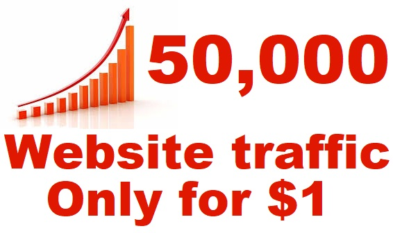 50,000 website traffic real from America