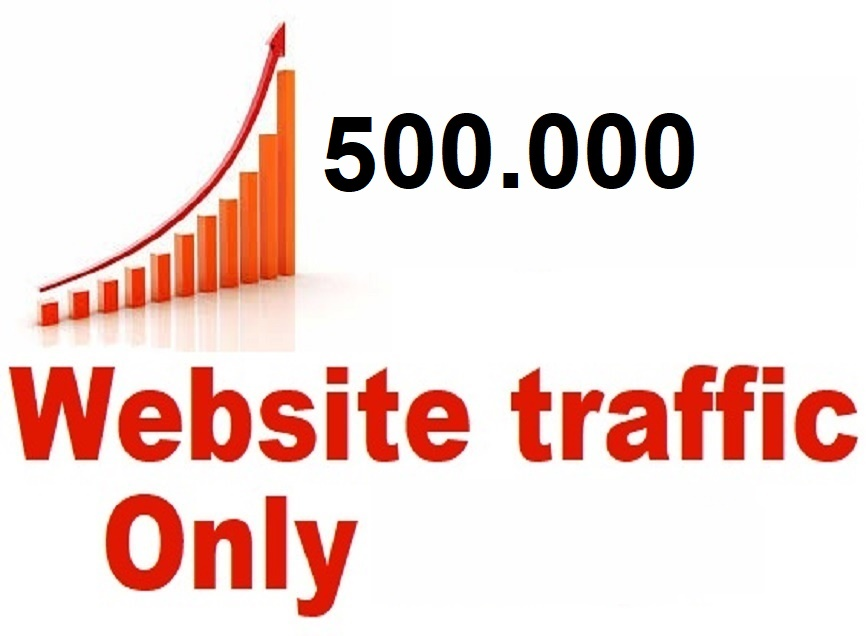 I give you Traffic 500.000 real visitors to your site
