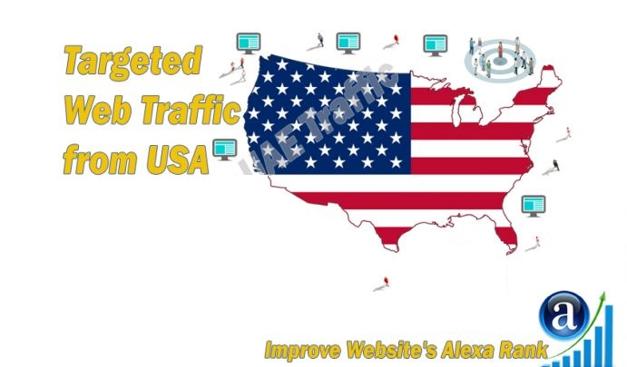 American web visitors real targeted Organic web traffic from USA
