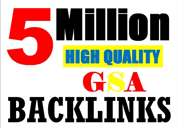 5M Gsa high-quality Backlinks For Fast Ranking