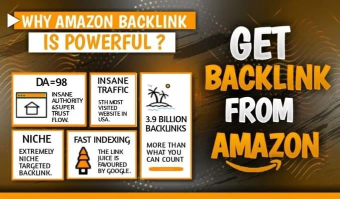 I will create a do follow amazon backlink da 96