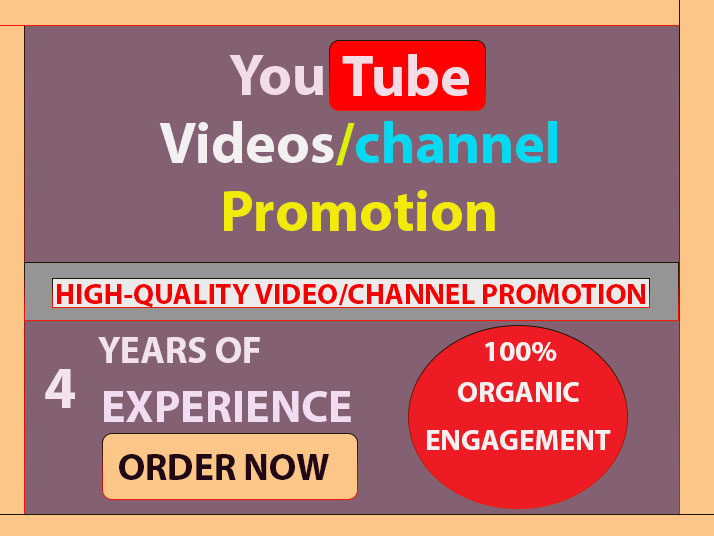 Fully Safe High-Quality Video Promotion & Channel Marketing Via Social Media Network