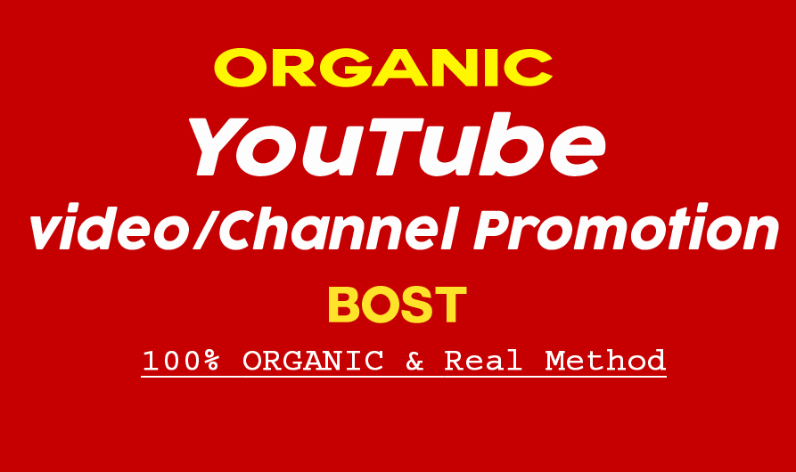 Do Organic YouTube Promotion Of your video