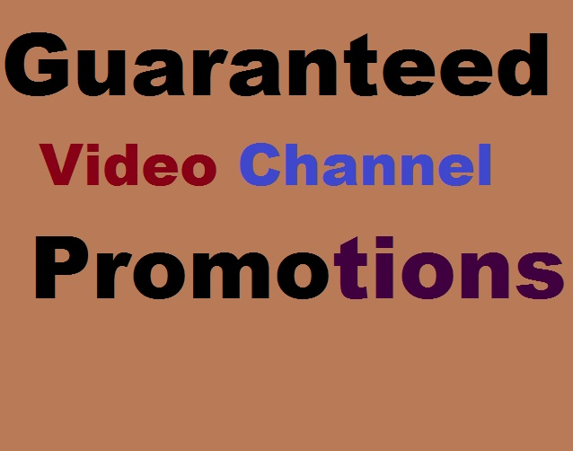 Guaranteed USA And Brazil Video Channel Promotions