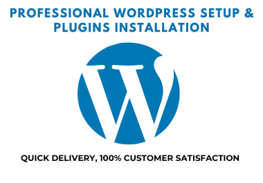 WordPress Website setup,  Install and configure in 24h