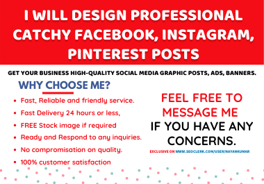 I will design Attractive Facebook,  Instagram,  Pinterest post banner in 24h
