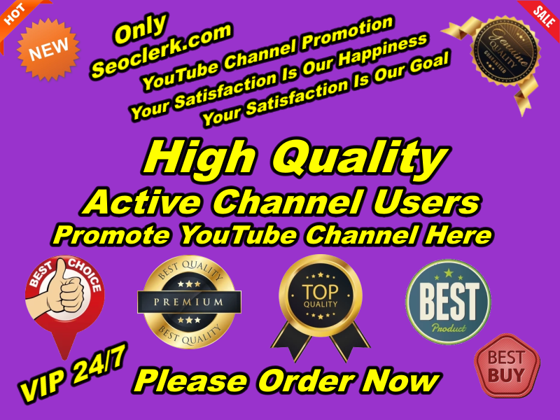 Manually Give You Real High-Quality YouTube Promotion Within 10-20 days
