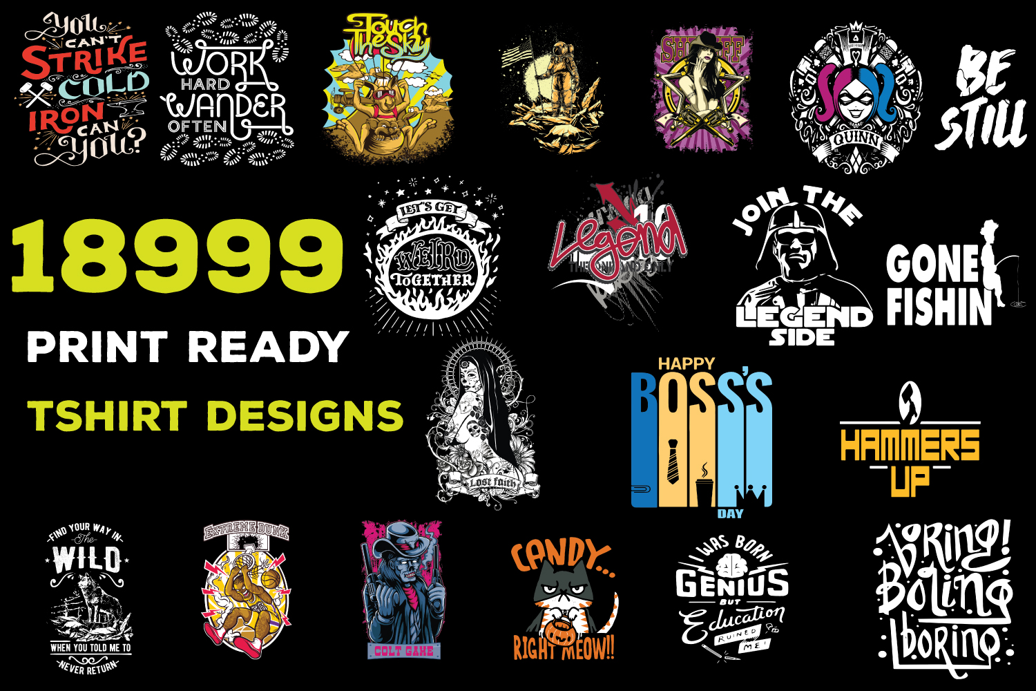 Send You 18999+Print Ready Tshirt Designs