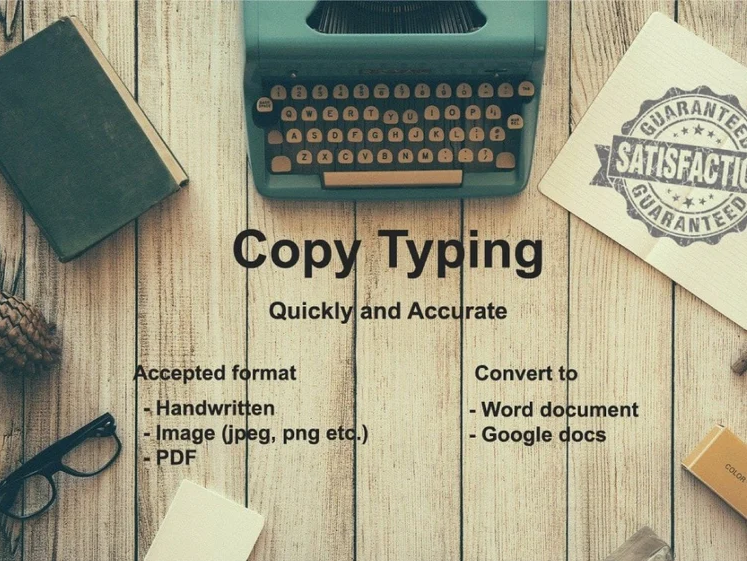 I will do fast and accurate typing,  retype scanned documents