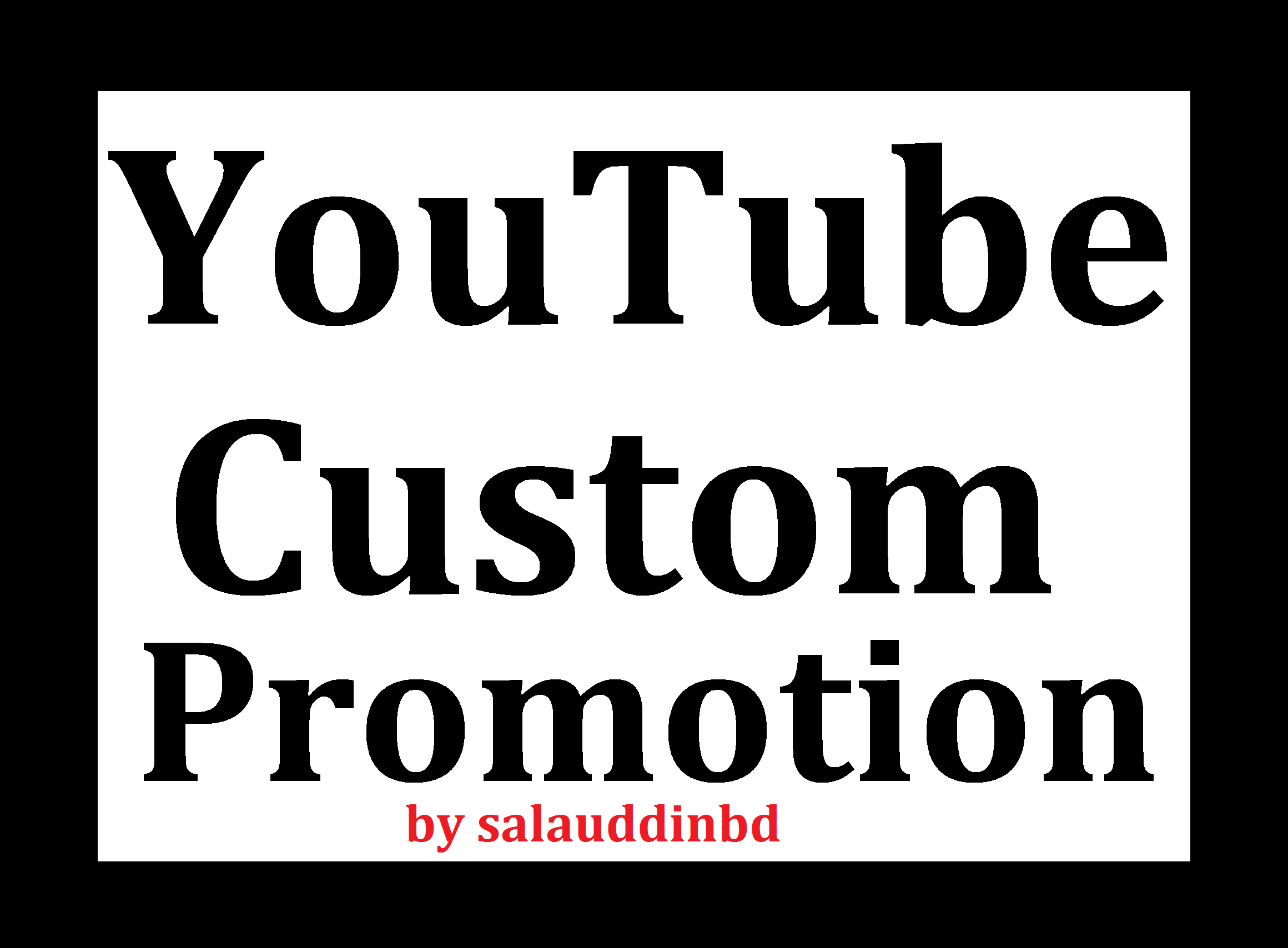 Safe YouTube High Quality Promotion Marketing