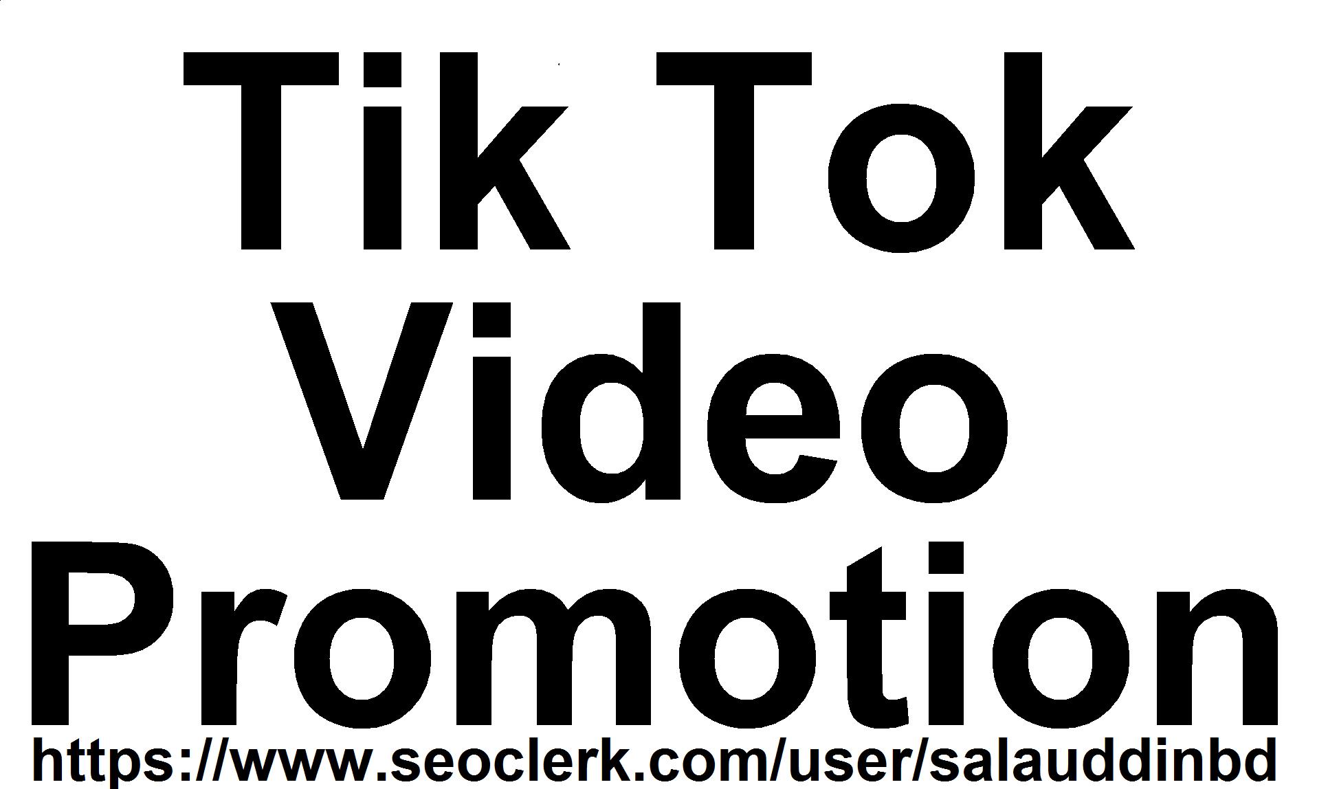 TikTok High Quality Video Promotion Marketing Super Fast