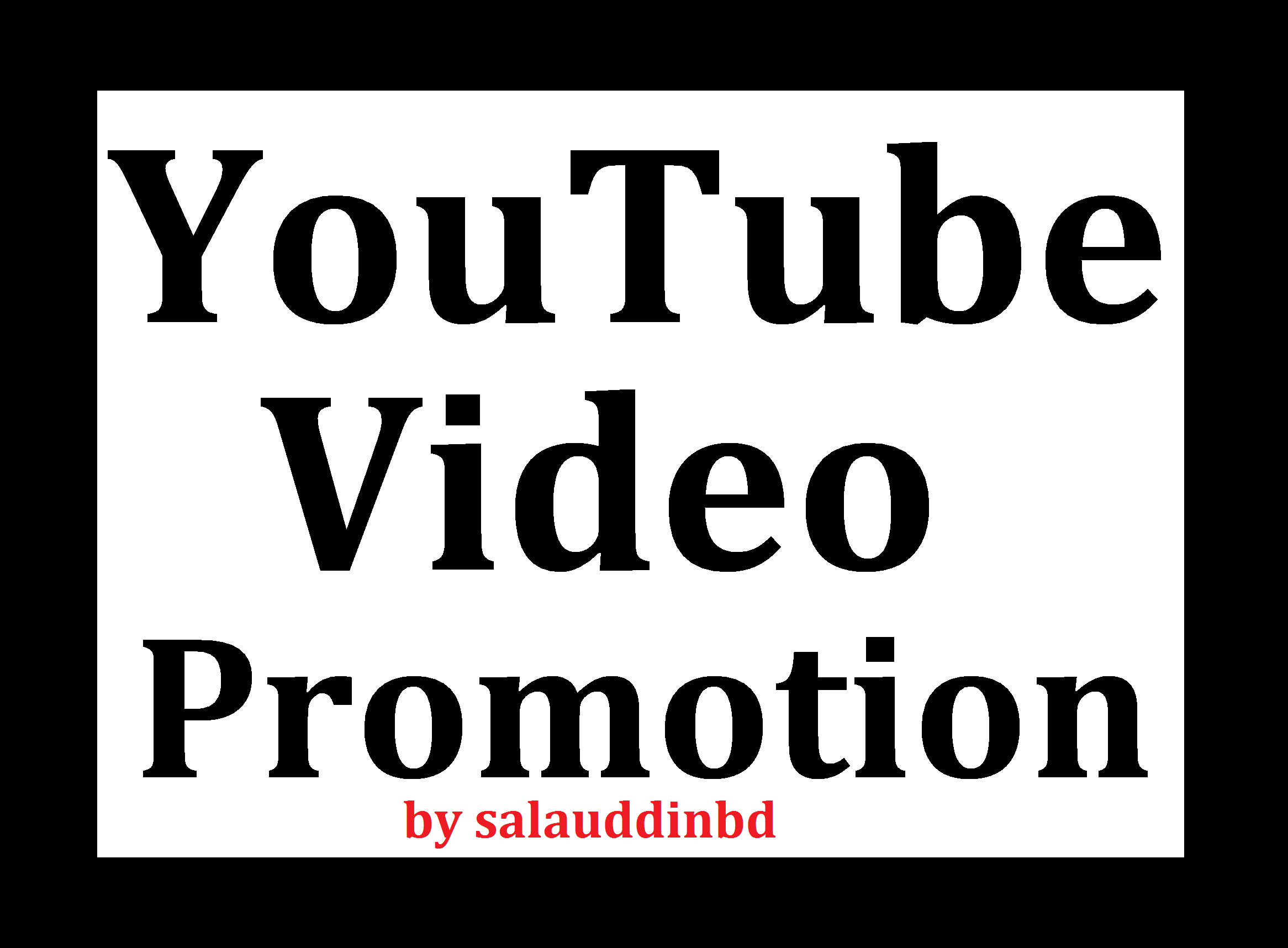 Add YouTube High Quality Video Promotion Marketing Full Safe