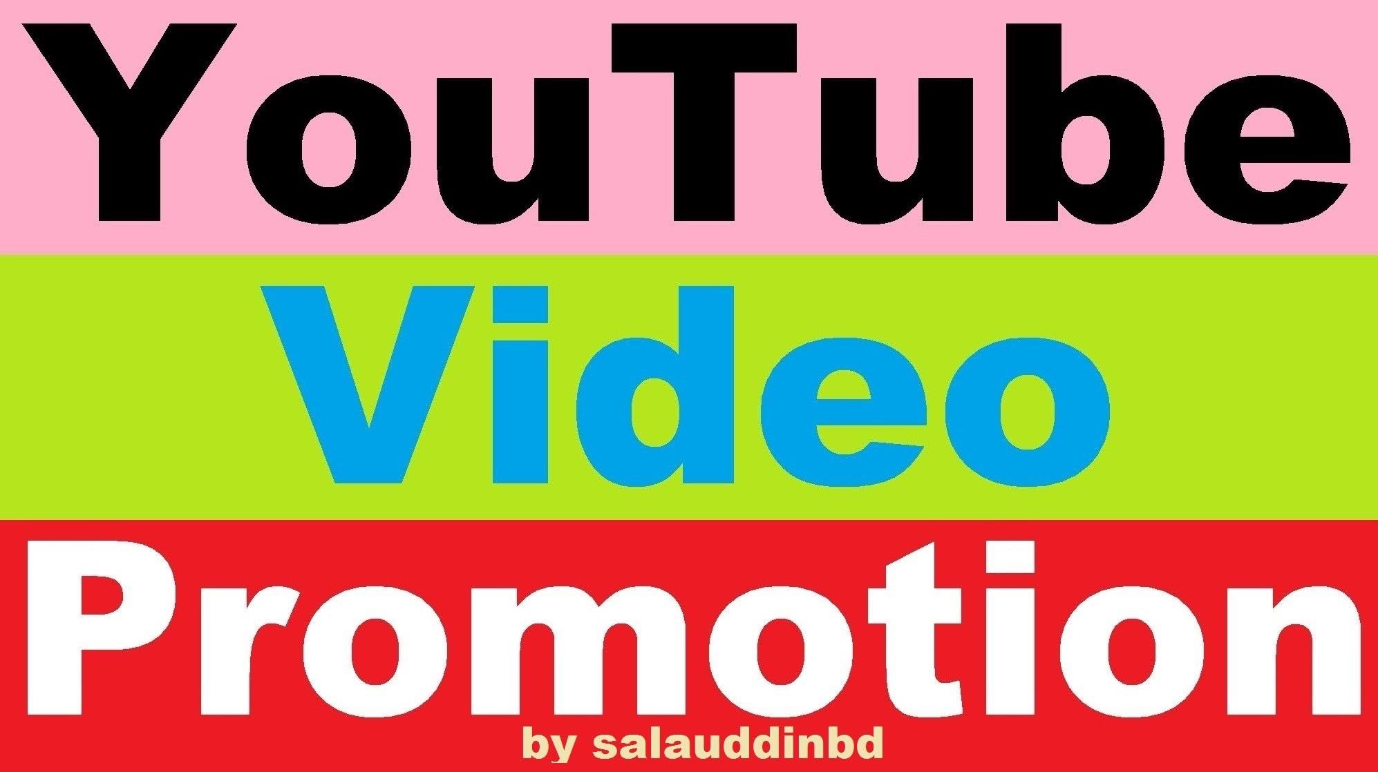 Safe Social Media YouTube Video Promotion Marketing Super Fast
