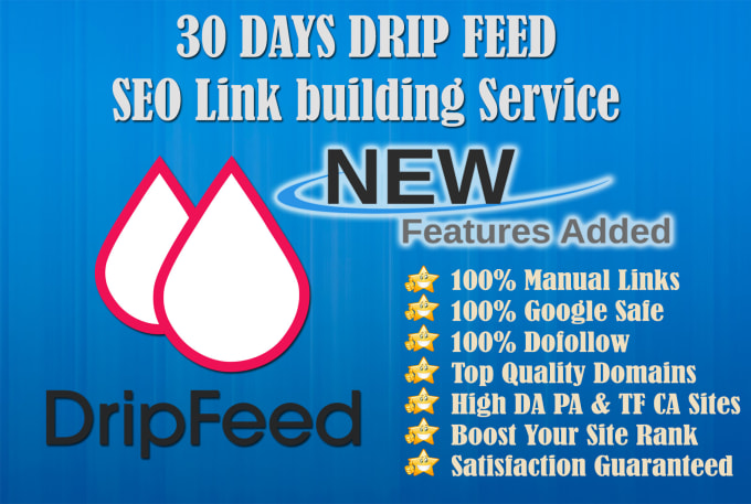 give days drip feed high quality link building service for daily update