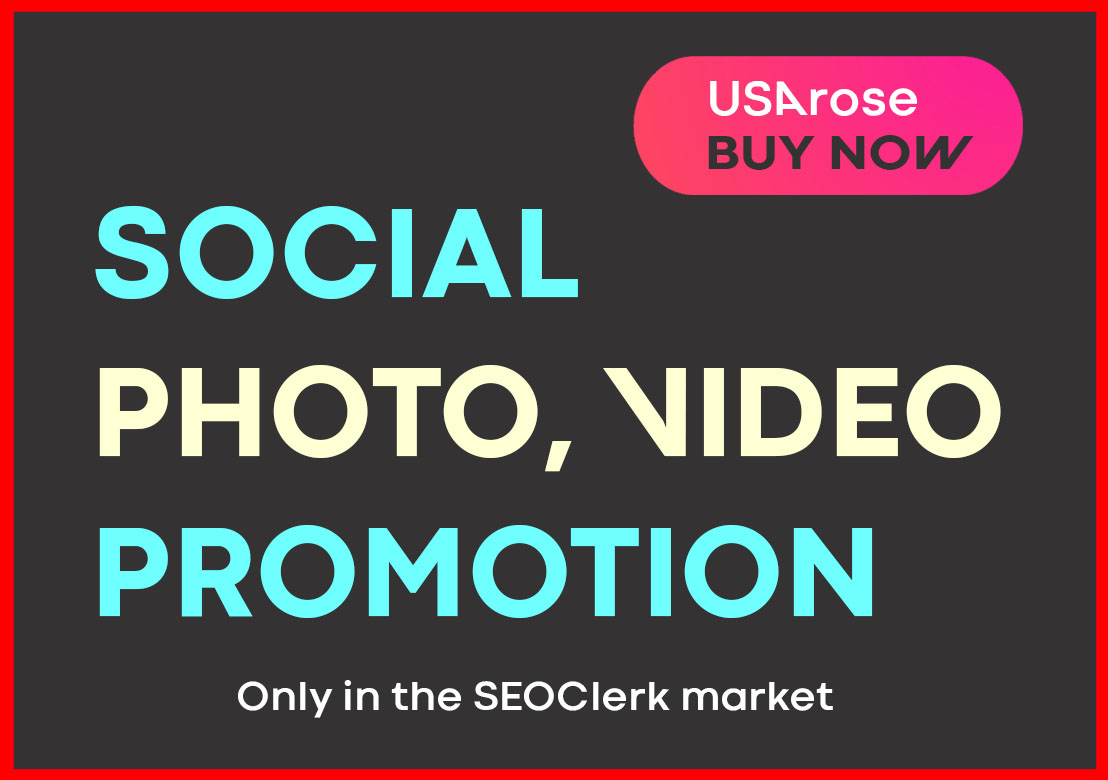 PHOTO OR VIDEO PROMOTION HIGH QUALITY AND LONG LASTING SOCIAL PROMOTION