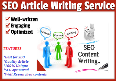 I'll write 1000 WORDS SEO friendly content for your website or online blog