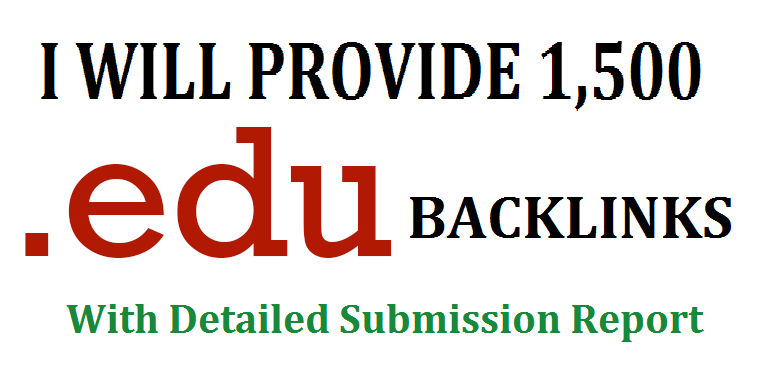 Get 1500 .EDU high authority backlinks